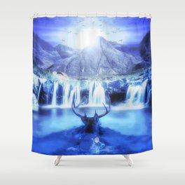 Deer Life Shower Curtain
