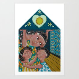 """Our Home Is Safe"" Art Print"