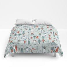 vintage ski linen Comforters