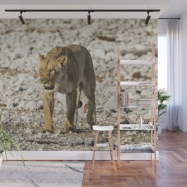Lioness on the Move Wall Mural