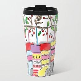 Christmas Socks Print Travel Mug