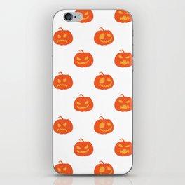 Scary Pumpkins Halloween Day iPhone Skin