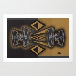 Golden Fighters Art Print