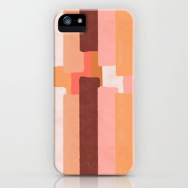 Line In Coral #society6 #abstractart iPhone Case