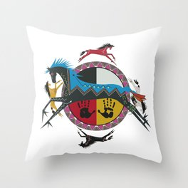 American Native Pattern No. 355 Throw Pillow