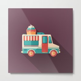 Ice Cream Van Metal Print