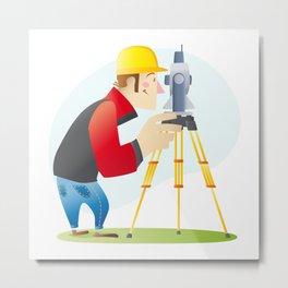 Surveyor Metal Print