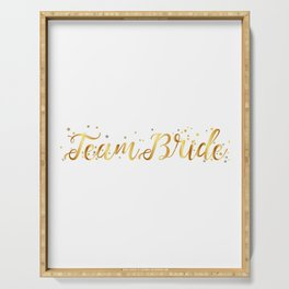 Team Bride Bachelorette Party For Women Serving Tray