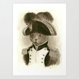 Napoleon Cat Art Print