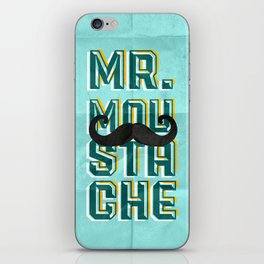 mr moustache iPhone Skin