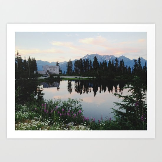Highwood Lake Art Print