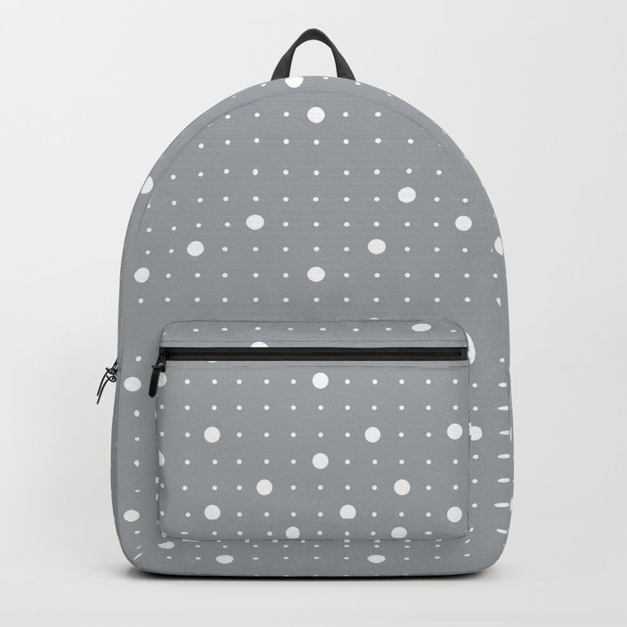 Pin Points Grey Backpack