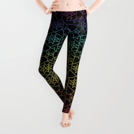 Chakra Black w Geo Pattern Leggings