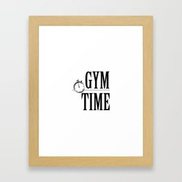 """"""" Fitness Collection """" - Gym Time Framed Art Print"""