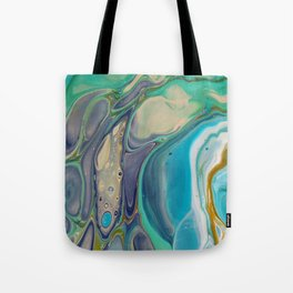 Fluid Abstract - Blue and Purple Tote Bag
