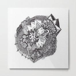 Abstract Pattern Clump II Metal Print