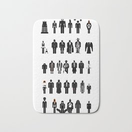 Time and Space Recognition Guide Bath Mat