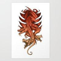 dragons Art Prints featuring Dragons by sandara