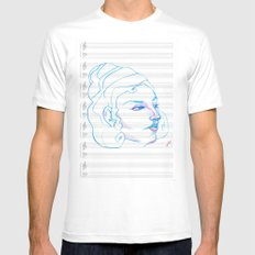 Music to My Eyes MEDIUM Mens Fitted Tee White