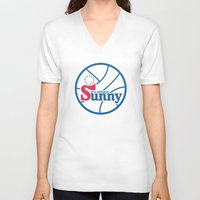 always sunny V-neck T-shirts featuring It's Always Sunny and 76 by HuckBlade