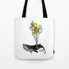 Balloons Whale Tote Bag