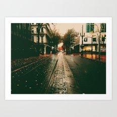 portland rain Art Print