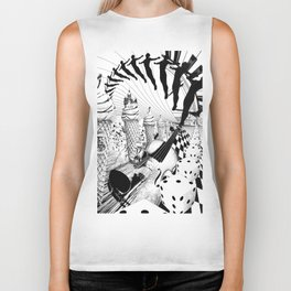 PLEASE, COME IN CONTACT OUR PLANET EARTH Biker Tank