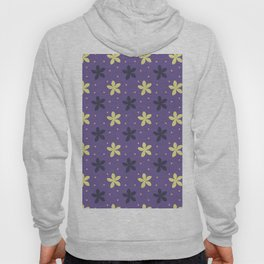 Ultra violet seamless pattern with flowers and dots Hoody