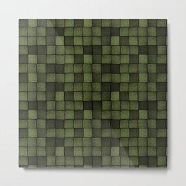 Wood Blocks-Olive Metal Print