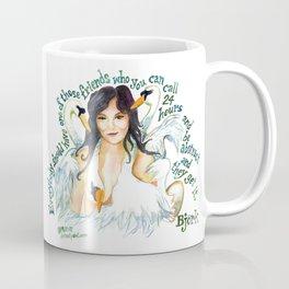 Bjork and the Swans by dotsofpaint studios Coffee Mug