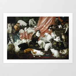 My Wife's Lovers by Carl Kahler, 1883 - Famous Cat Painting Art Print
