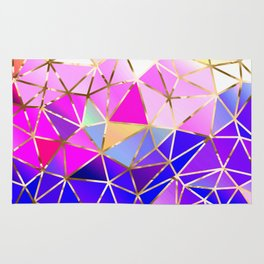 Rainbow Geometric pattern #8 Rug