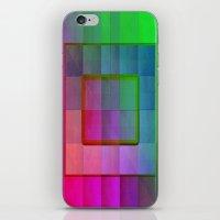 aperture iPhone & iPod Skins featuring Aperture #1 Fractal Pleat Texture Colorful Design by CAP Artwork & Design