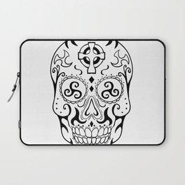 Mexican Skull Triskele Celtic Cross Tattoo Laptop Sleeve