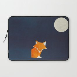 Origami Fox and Moon Laptop Sleeve