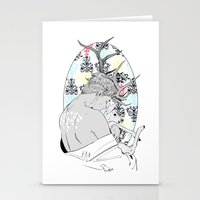 fawn Stationery Cards featuring Fawn by Cassandra Jean