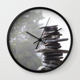 West Coast Inukshuk with Cedar Trees  #decor #society6 #buyart Wall Clock