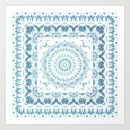 In Blue (Pattern Mandala) Art Print