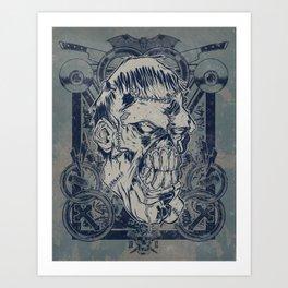 Classic Monsters Series: Franky Art Print