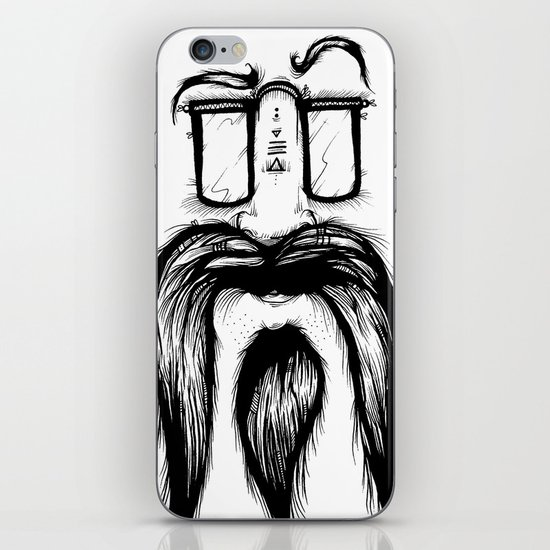 Blackie Beardy Face iPhone & iPod Skin