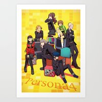 persona 4 Art Prints featuring PERSONA 4 by JJ&EB