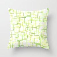jojo Throw Pillows featuring #52. JOJO - Squares by sylvieceres