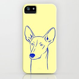 Ibizan Hound (Pale Yellow and Blue) iPhone Case