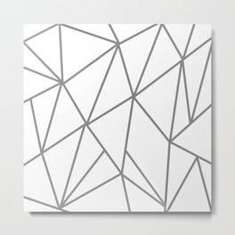 ABSTRACT DESIGN (GREY-WHITE) Metal Print