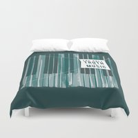 kerouac Duvet Covers featuring The Only Truth is Music by amejean
