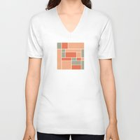 mondrian V-neck T-shirts featuring Mondrian inspired by Alisa Galitsyna