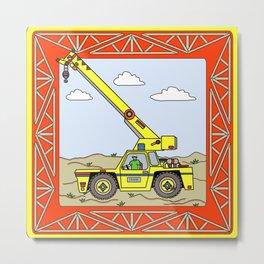 Crane Block Metal Print