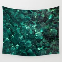 emerald Wall Tapestries featuring Emerald by Lotus Effects