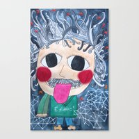 einstein Canvas Prints featuring Einstein by fieltrovitz