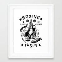 boxing Framed Art Prints featuring Boxing by T-SIR | Oscar Postigo